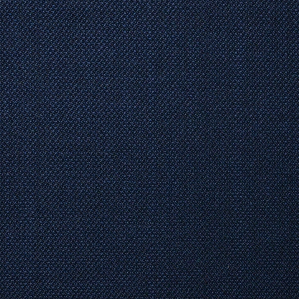 Navy Blue Sharkskin Super 100's All Wool Suiting By Holland & Sherry