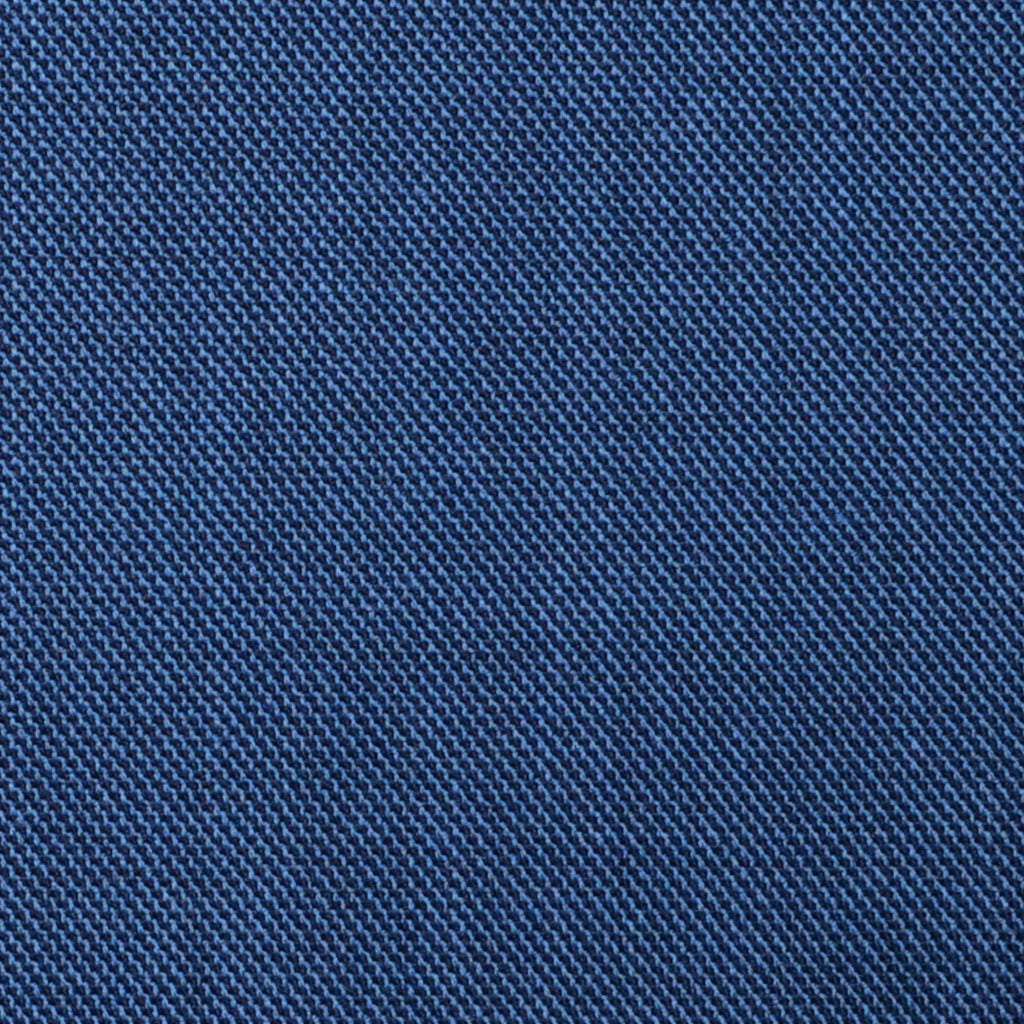 Light Navy Blue Sharkskin Super 100's All Wool Suiting By Holland & Sherry