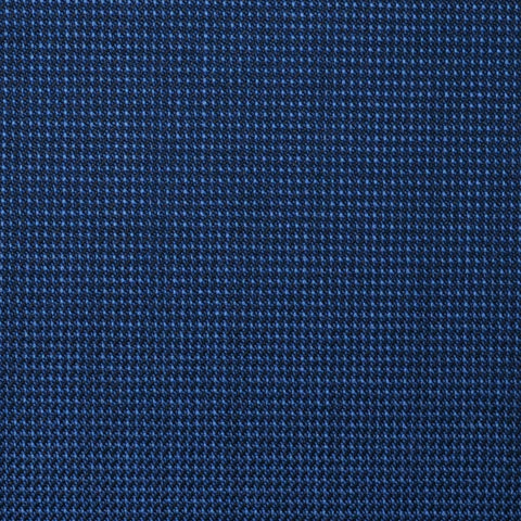Medium Blue Nailhead Super 100's All Wool Suiting By Holland & Sherry