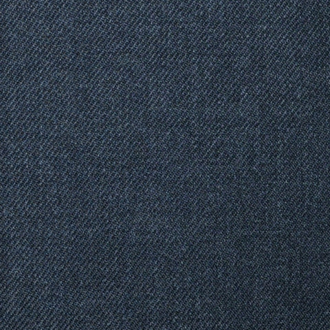 Medium Grey Plain Twill Super 100's All Wool Suiting By Holland & Sherry