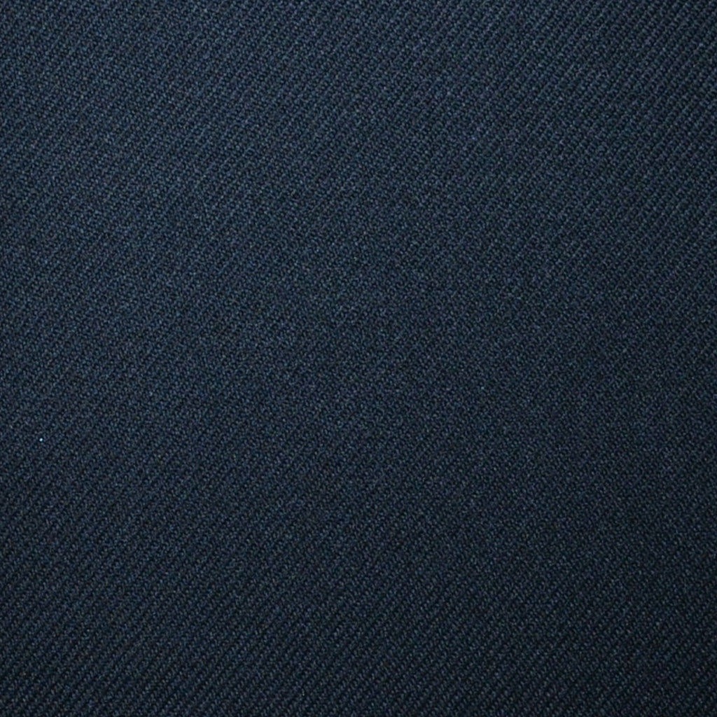 Black Plain Twill Super 100's All Wool Suiting By Holland & Sherry