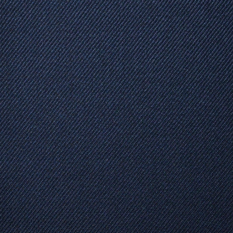 Dark Navy Blue Plain Twill Super 100's All Wool Suiting By Holland & Sherry