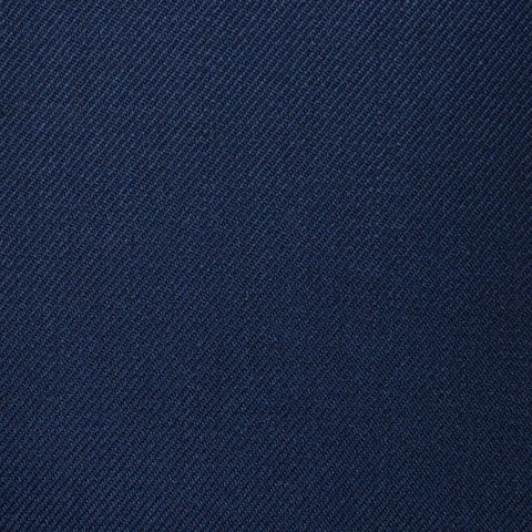 Bright Navy Blue Plain Twill Super 100's All Wool Suiting By Holland & Sherry