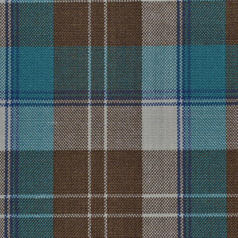 Brown,Blue, Beige & Green Plaid Holland & Sherry Jacketing