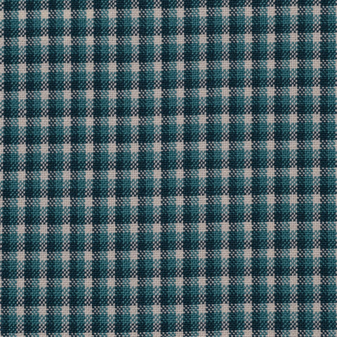 Green, Blue with Beige Small Box Check Holland & Sherry Jacketing