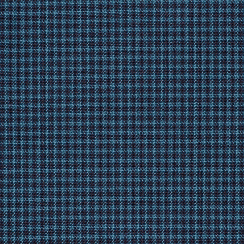 Green with Blue Micro Check Holland & Sherry Jacketing