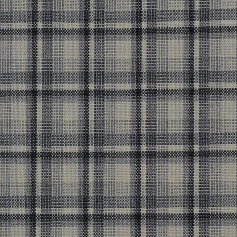 Ecru, Black & Grey Plaid Check Holland & Sherry Jacketing