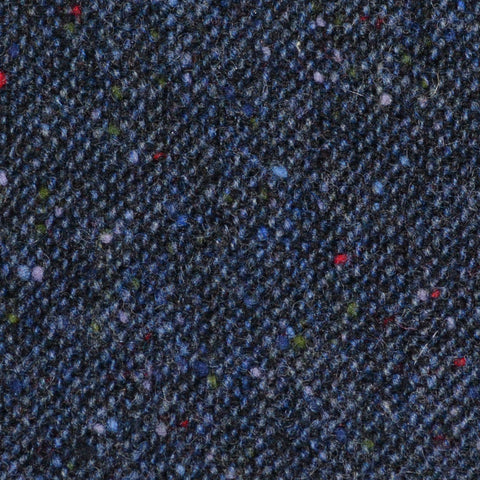 Navy Blue All Wool Irish Donegal Tweed