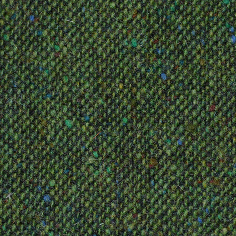 Bright Green All Wool Irish Donegal Tweed