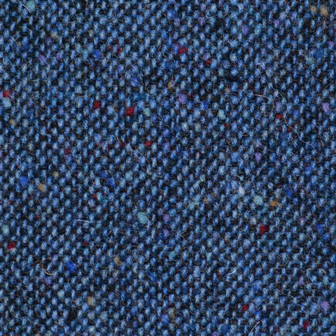 Medium Blue All Wool Irish Donegal Tweed
