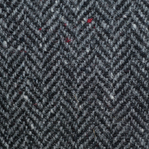 Medium Grey Herringbone All Wool Irish Donegal Tweed