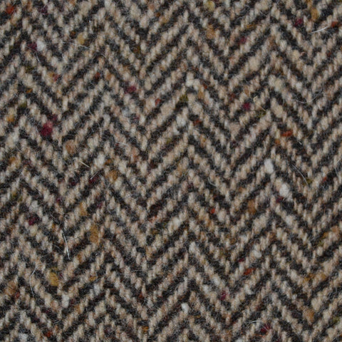 Light Brown Herringbone All Wool Irish Donegal Tweed