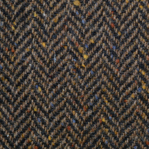 Brown Herringbone All Wool Irish Donegal Tweed