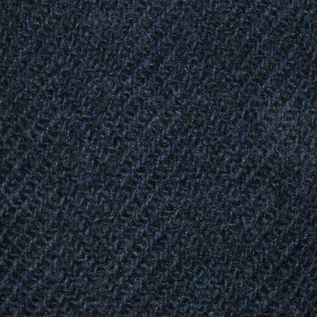 Navy Blue Herringbone All Wool Irish Donegal Tweed Coating