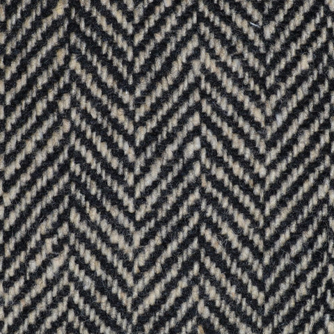 Light Brown and Black Herringbone All Wool Irish Donegal Tweed Coating