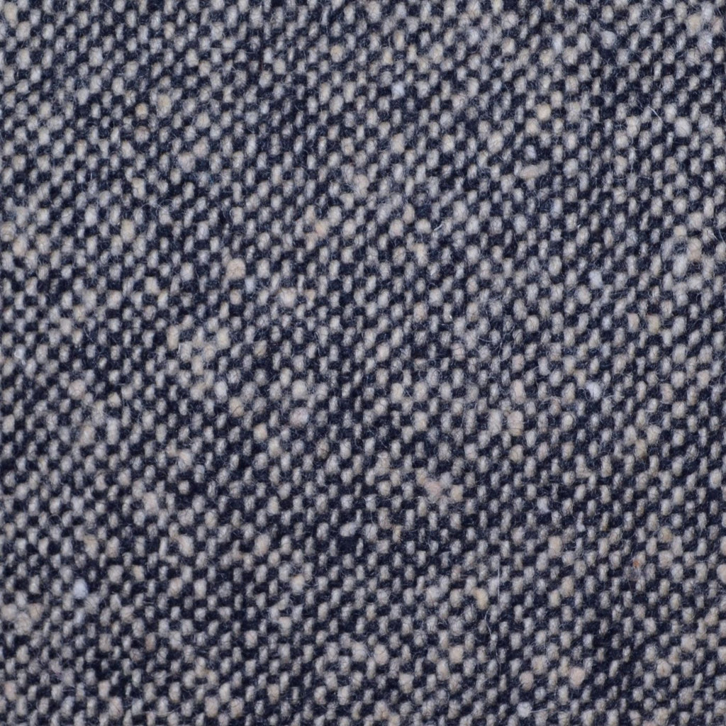 Light Grey and Navy Blue All Wool Irish Donegal Tweed Coating
