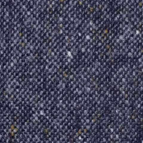 Medium Grey and Navy Blue All Wool Irish Donegal Tweed Coating
