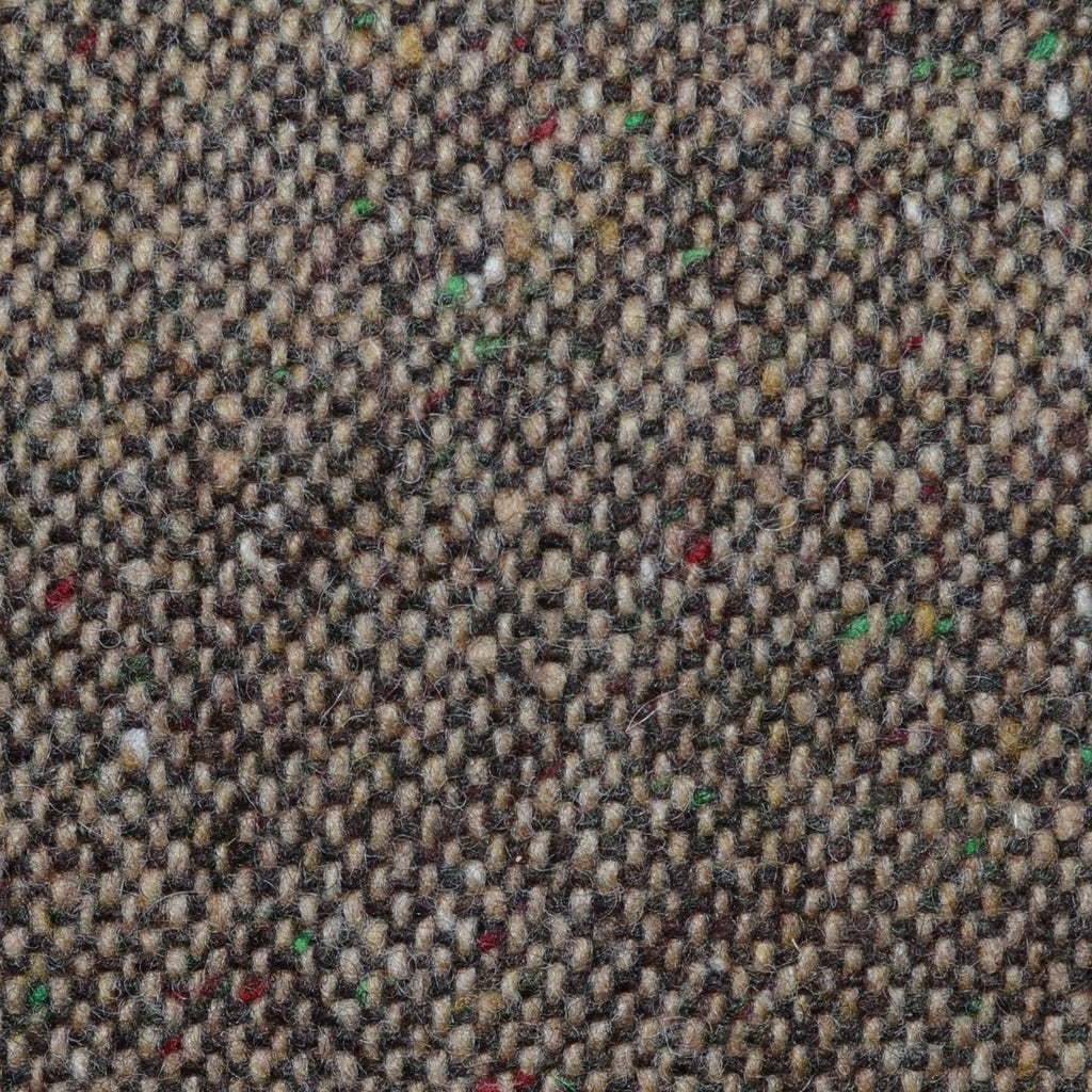 Light Brown and Medium Brown All Wool Irish Donegal Tweed Coating