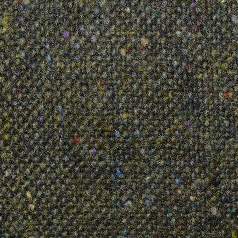 Moss Green and Dark Brown All Wool Irish Donegal Tweed Coating
