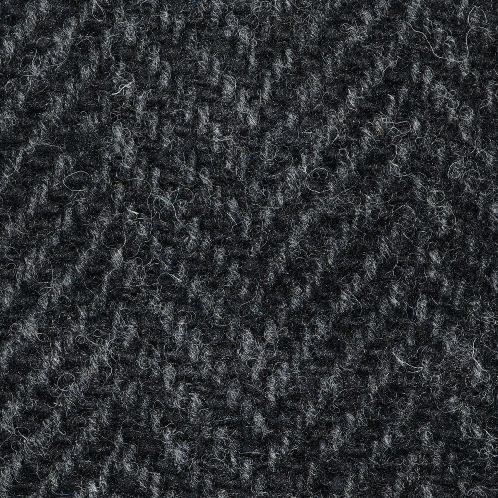 Dark Grey and Black Wide Herringbone All Wool Irish Donegal Tweed Coating