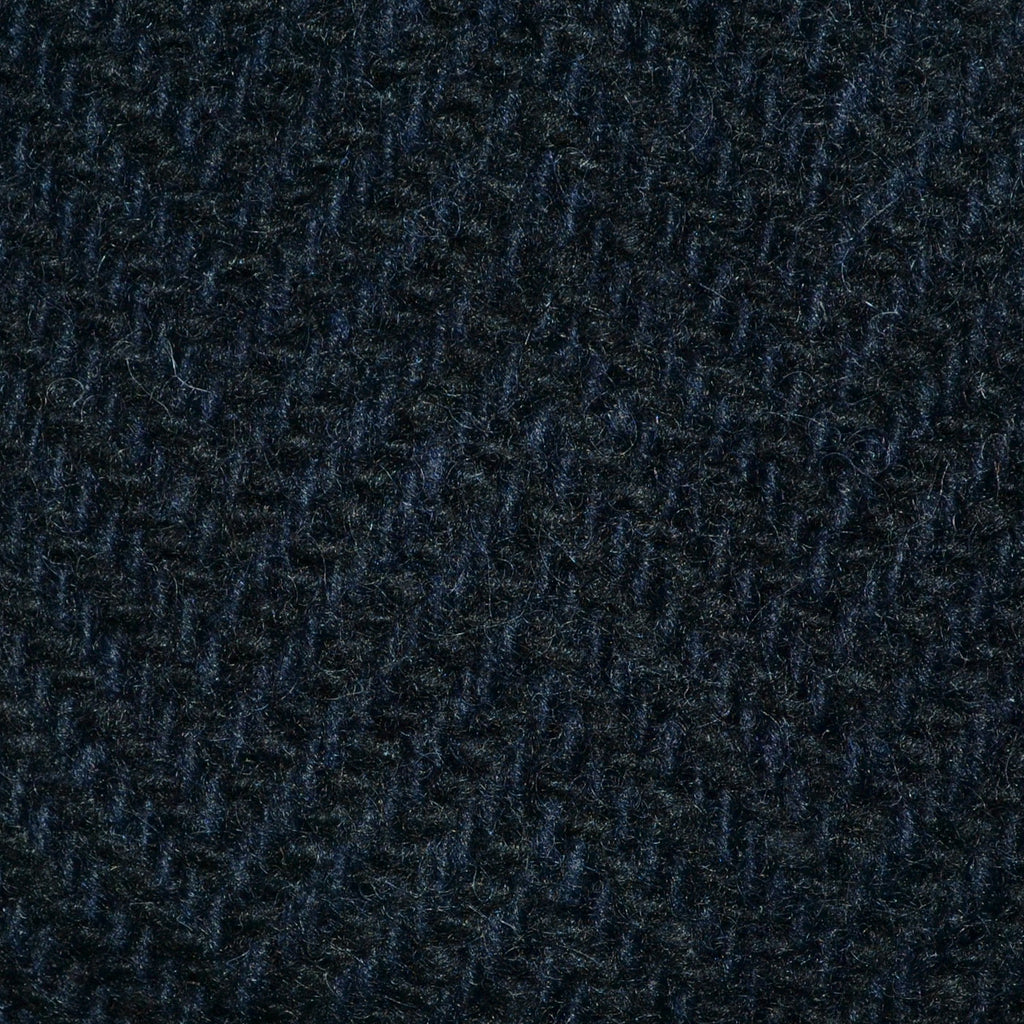 Navy Blue Wide Herringbone All Wool Irish Donegal Tweed Coating