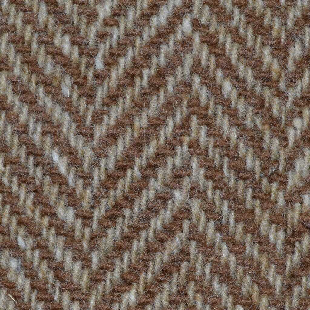 Light Brown and Tan Wide Herringbone All Wool Irish Donegal Tweed Coating