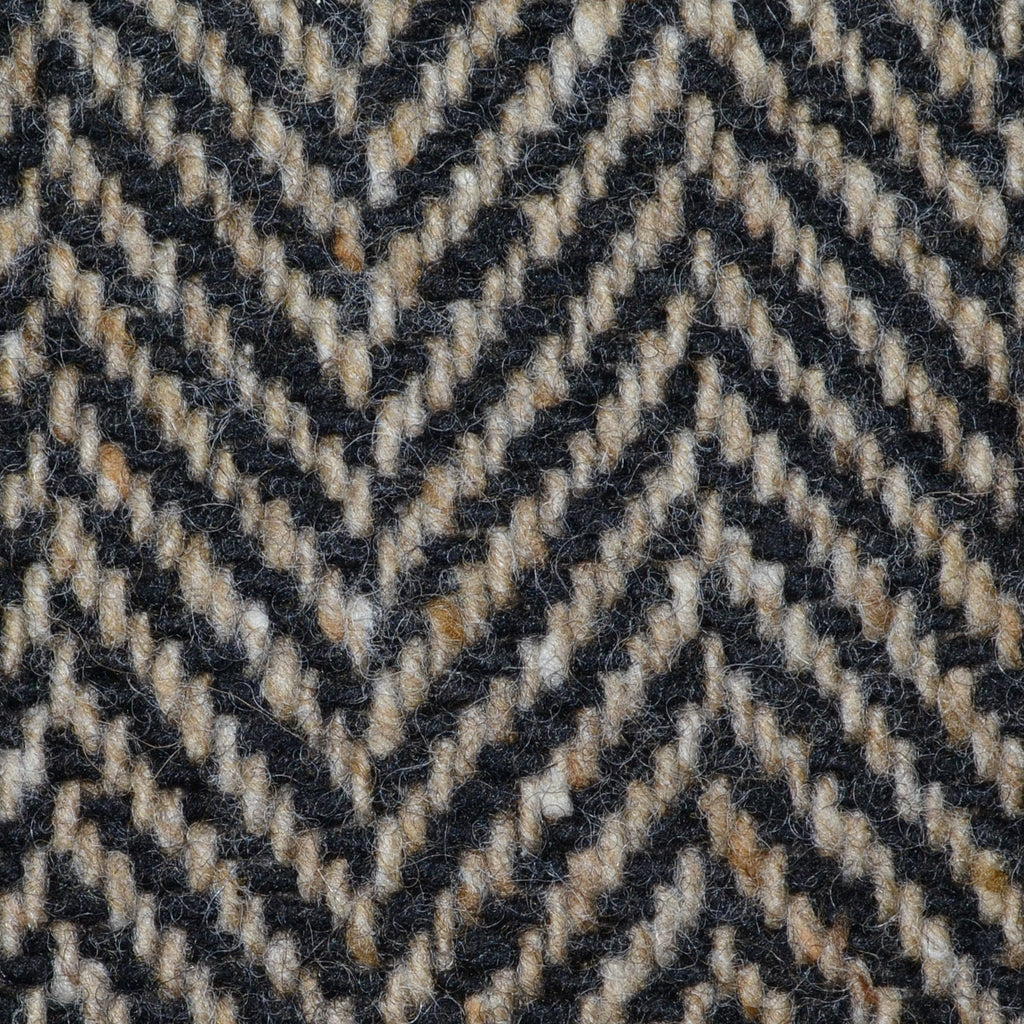 Light Brown and Dark Brown Wide Herringbone All Wool Irish Donegal Tweed Coating