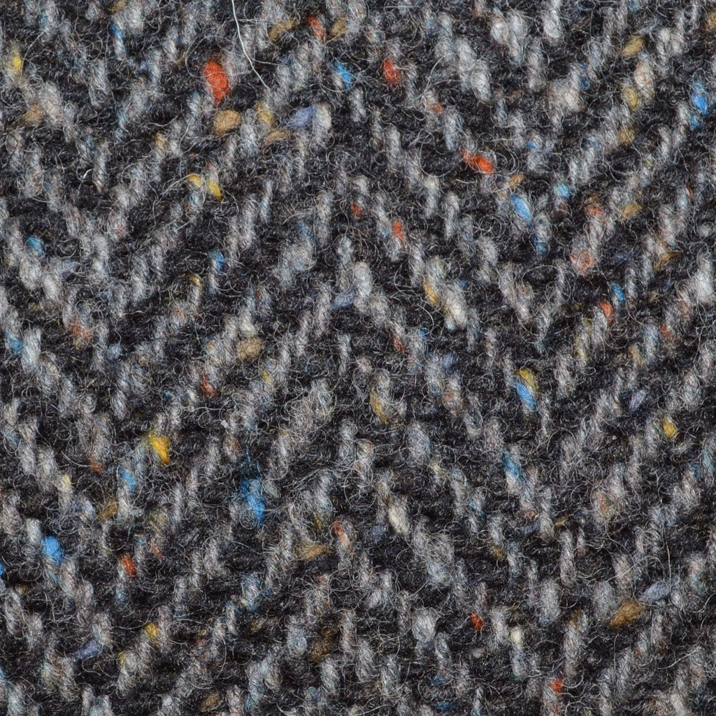 Grey/Brown and Dark Brown Wide Herringbone All Wool Irish Donegal Tweed Coating