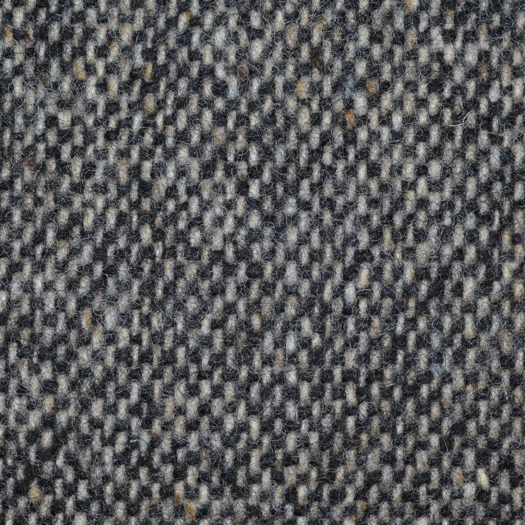 Grey/Brown and Dark Brown All Wool Irish Donegal Tweed Coating