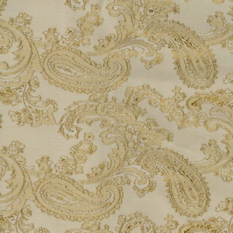 Beige Paisley Poly/Viscose Lining