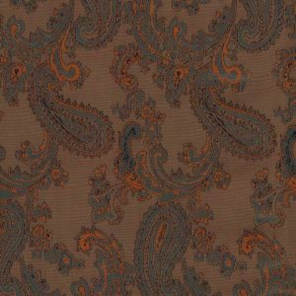 Brown & Bronze Paisley Poly/Viscose Lining