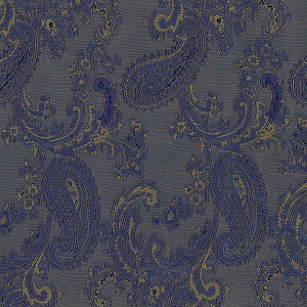 Brown & Gold Paisley Poly/Viscose Lining