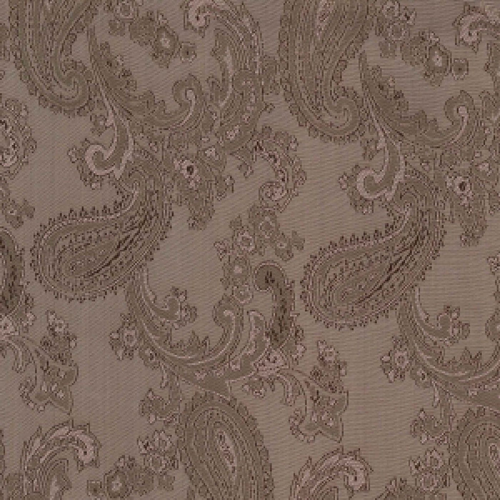 Light Brown Paisley Poly/Viscose Lining