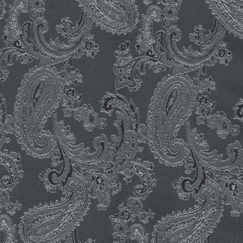 Dark Grey Paisley Poly/Viscose Lining