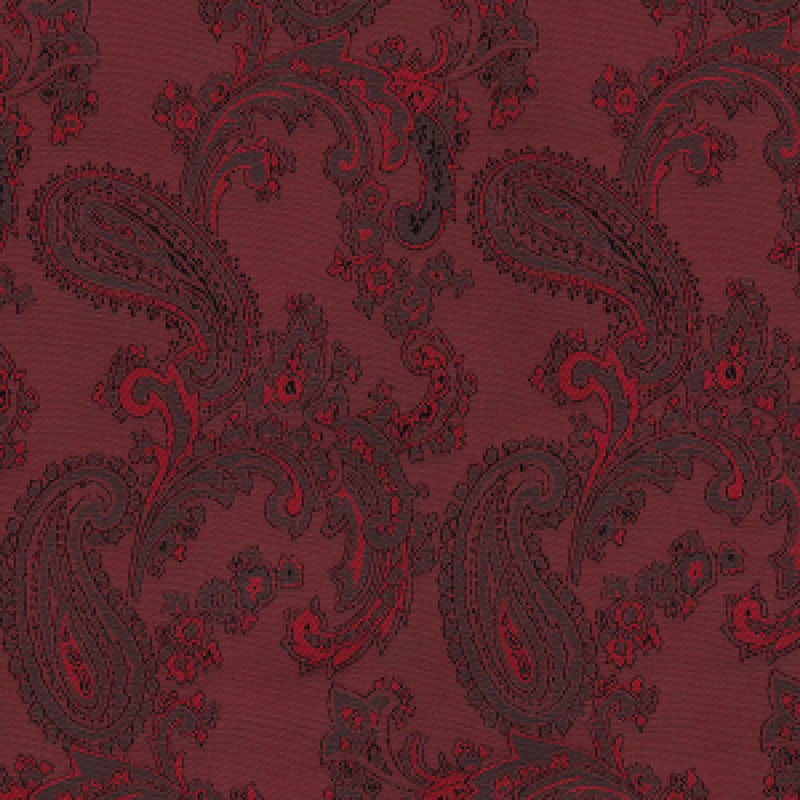 Ruby Red Paisley Poly/Viscose Lining