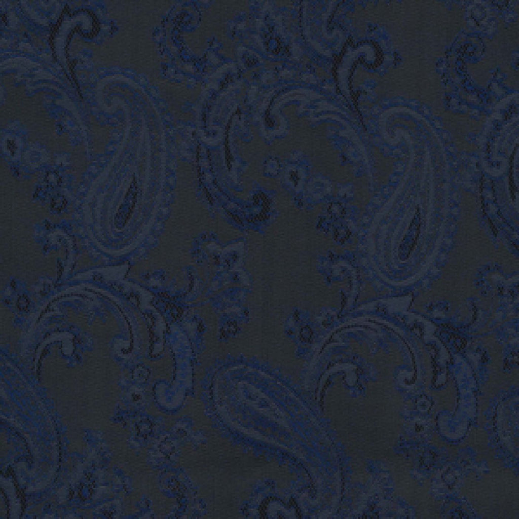 Navy Blue Paisley Poly/Viscose Lining