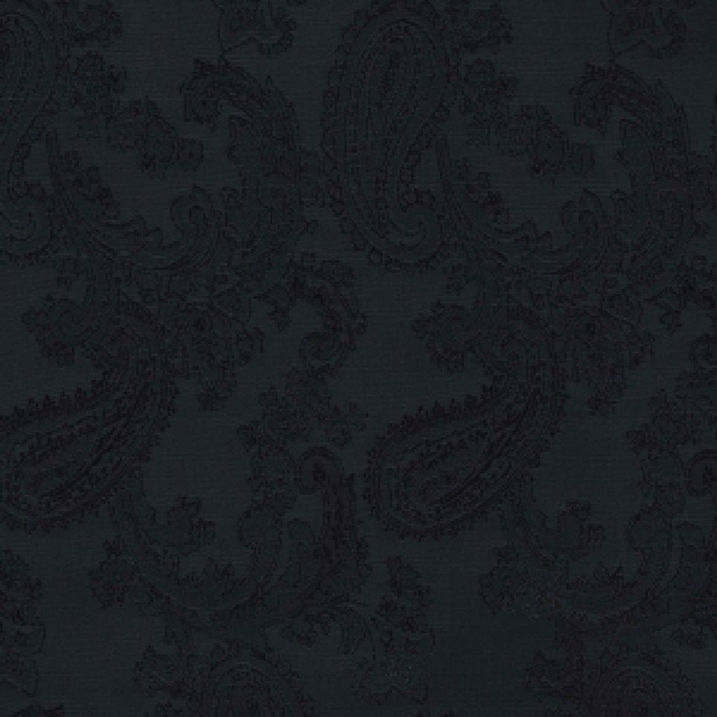 Black Paisley Poly/Viscose Lining