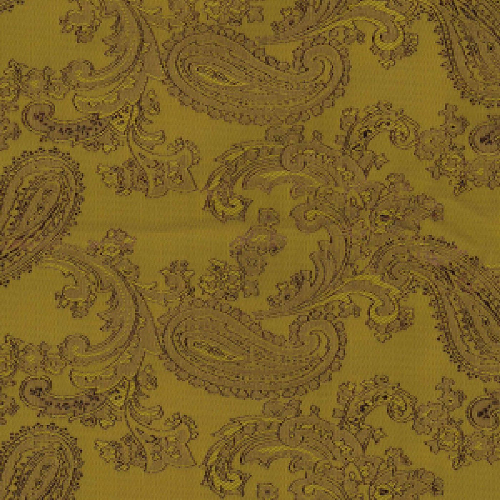 Old Gold Paisley Poly/Viscose Lining