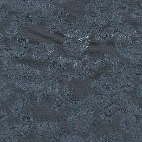 Steel Blue & Blue Paisley Poly/Viscose Lining