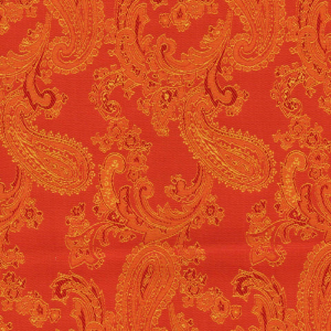 Orange Paisley Poly/Viscose Lining