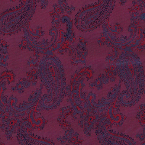 Wine & Red Paisley Poly/Viscose Lining