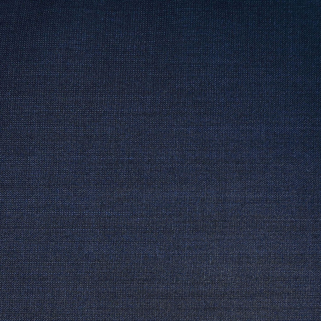 Medium Blue Plain Weave Italian Wool Suiting