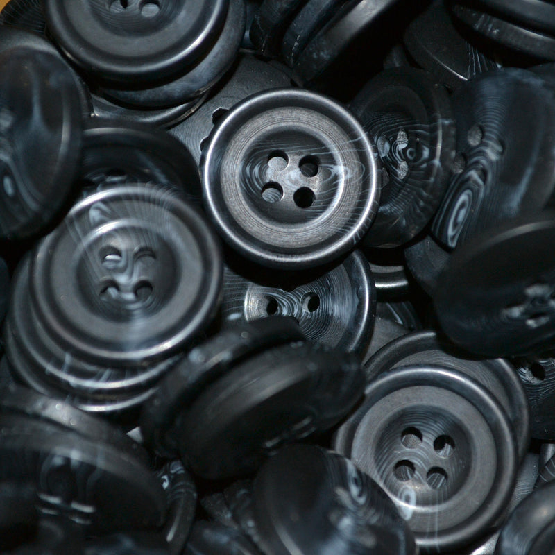 Dark Grey Resin Pimbo Buttons - Large (32 Ligne)