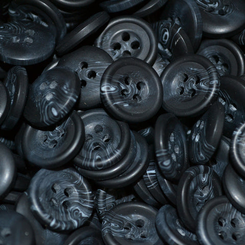 Dark Grey Resin Pimbo Buttons – Small (24 Ligne)