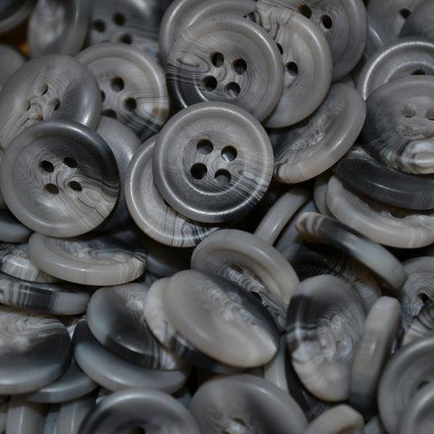 Light Grey Resin Pimbo Buttons – Small (24 Ligne)