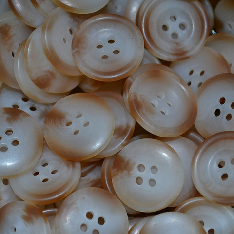 Natural Resin Pimbo Buttons - Large (32 Ligne)