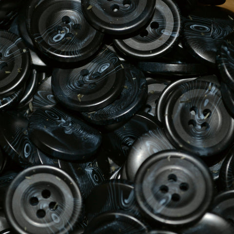 Navy Blue Resin Pimbo Buttons - Large (32 Ligne)