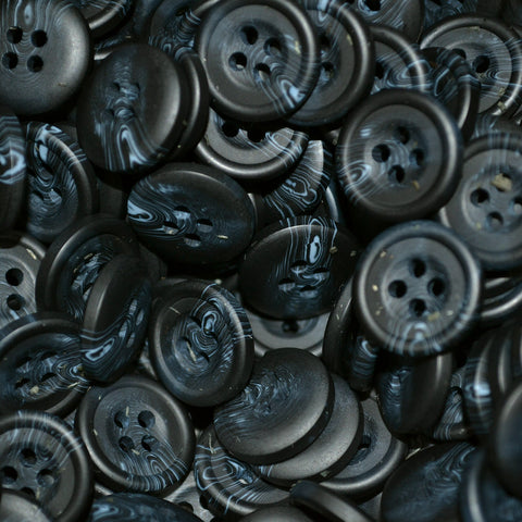 Navy Blue Resin Pimbo Buttons – Small (24 Ligne)