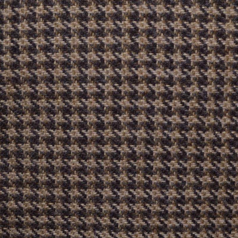 Light Brown and Dark Brown Dogtooth Check Tweed - Sold Per Metre