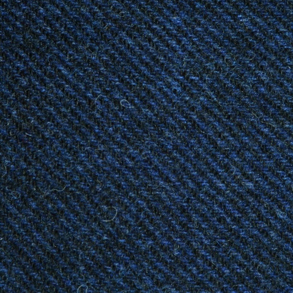 Bright Navy Blue and Dark Navy Blue Twill Tweed - Sold Per Metre